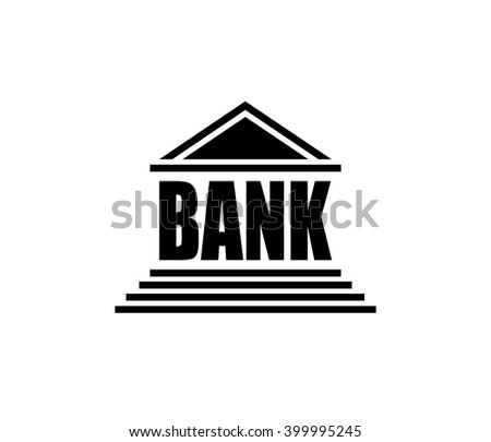 Bank icon. Bank logo. Vector.