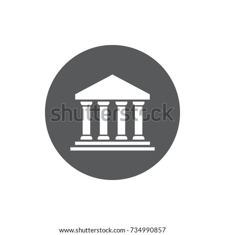 Bank Icon. Business center vector illustration on white background.