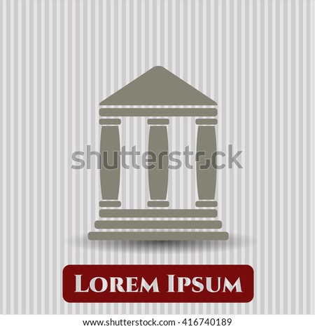 Bank icon or symbol