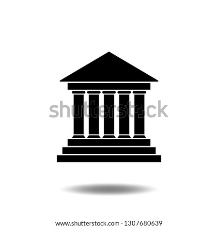 Bank icon vector building,business center flat sign symbols logo illustration isolated on white background beautiful black color.Concepts objects design art for Deposit, withdraw, saving.