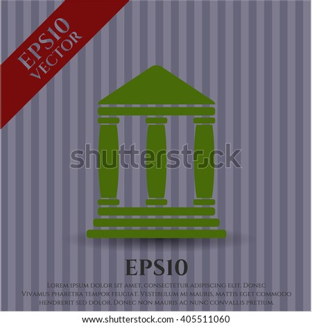 Bank icon vector illustration