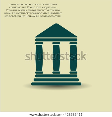 bank icon vector symbol flat eps jpg app web concept website