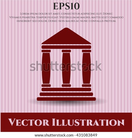 bank icon vector symbol flat eps jpg app web concept website