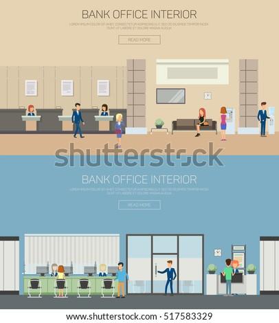 bank interior or bank