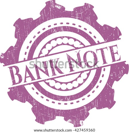 Bank Note grunge style stamp