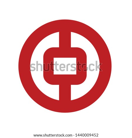 Bank of China logo vector simple icon