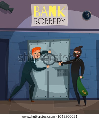 bank robbery with people crime