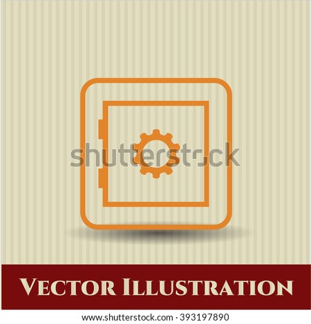 Bank Safe icon vector illustration