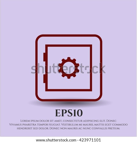 bank safe icon vector symbol flat eps jpg app web concept