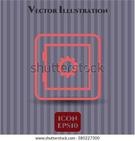 Bank Safe vector icon or symbol