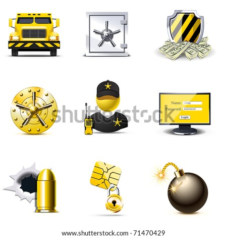 Bank security icons | Bella series