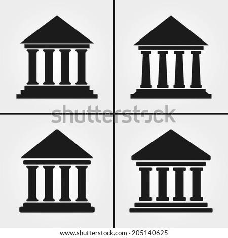 Bank University Museum Icons