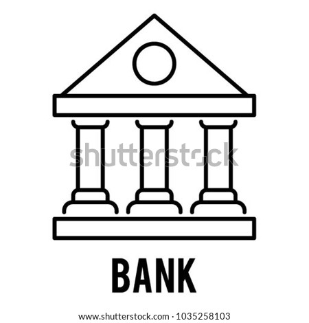 Bank vector icon