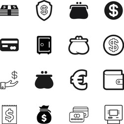 bank vector icon set such as: defend, steel, office, electronic, vintage, internet, savings, holding, deposit, euro, save, trendy, machine, invest, debt, modern, old, human, europe, withdraw, atm