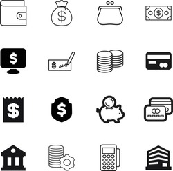 bank vector icon set such as: letter, making, amount, lines, human, content, billing, apartment, cost, roman, internet, balance, hold, classical, receipt, marketing, objects, development, shield