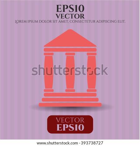 Bank vector symbol