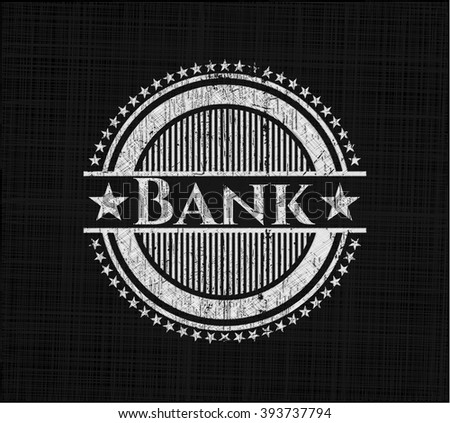 Bank with chalkboard texture