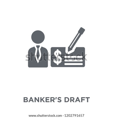 Banker's draft icon. Banker's draft design concept from Banker's draft collection. Simple element vector illustration on white background.