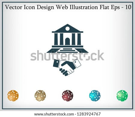 Banking agreement vector icon