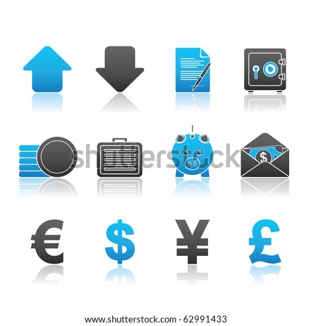 Banking and Finance icon set 18 - Blue Series.  Vector EPS 8 format, easy to edit.