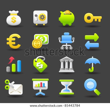 Banking,Finance,business, money icon set | Dark series