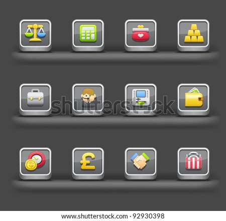 Banking & Finance,Shopping   Mobile devices apps icons