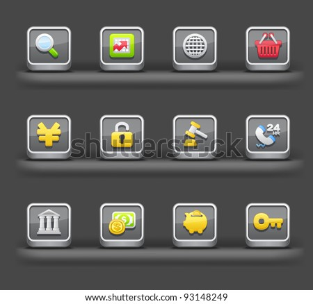 Banking & Finance,Shopping | Mobile devices apps icons