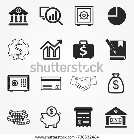 Banking icons, banking icons vector