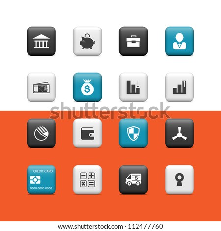 Banking icons. Buttons - stock vector