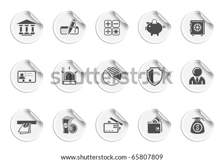Banking icons. Stickers