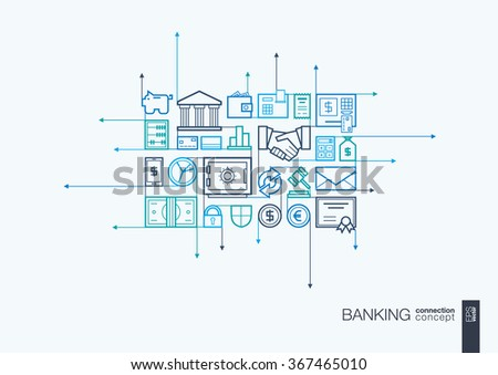 banking integrated thin line
