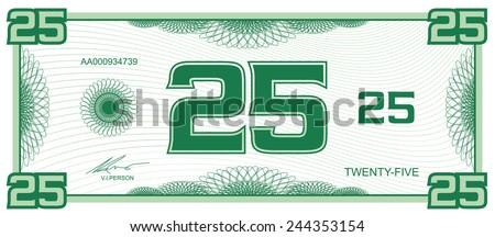 banknote twenty-five
