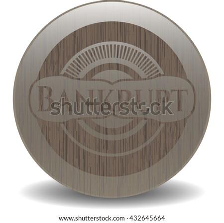 Bankrupt realistic wood emblem