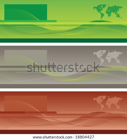 Banner - Abstract composition with blend lines.