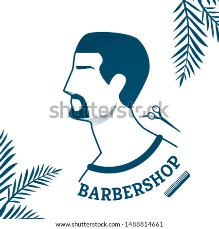 Banner Advertising Best Barbershop for Gentlemans. Offer Services Hairdresser, Institution Takes Responsibility for Beauty, Health Hair, Clients Head, Grooming Mustache or Beard Beautiful Appearance.