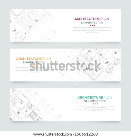 Banner architectural plan , Architectural background , architectural plan vector