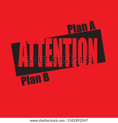 Banner Attention - Plan A or Plan B. Business poster of choice plans