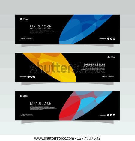 Banner background.business template.modern design #1277907532