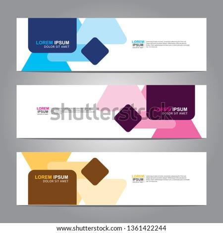 Banner background.business template.modern design #1361422244