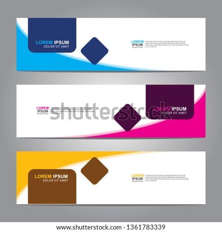 Banner background.business template.modern design #1361783339