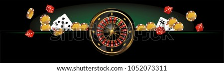 banner, background for advertising games in casinos, poker and r