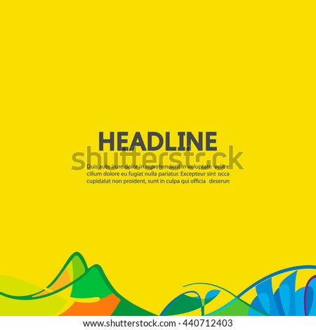 banner background in colors of