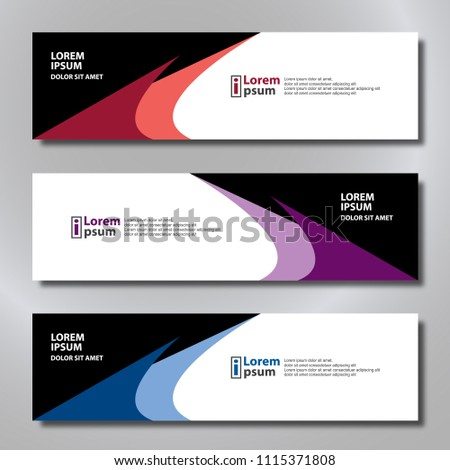 Banner background modern template, abstract design #1115371808