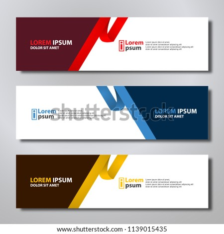 Banner background modern template, abstract design #1139015435