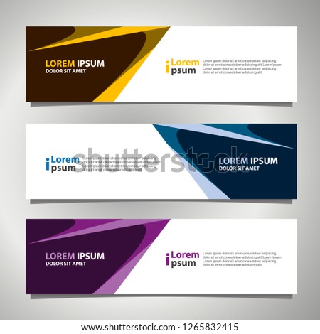 Banner background modern template, abstract design #1265832415