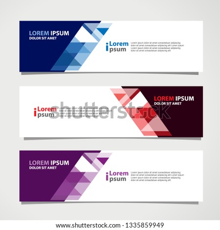 Banner background modern template, abstract design #1335859949