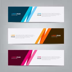 Banner background. Modern template vector design