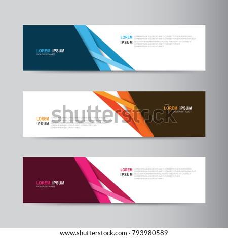Banner background. Modern template vector design #793980589