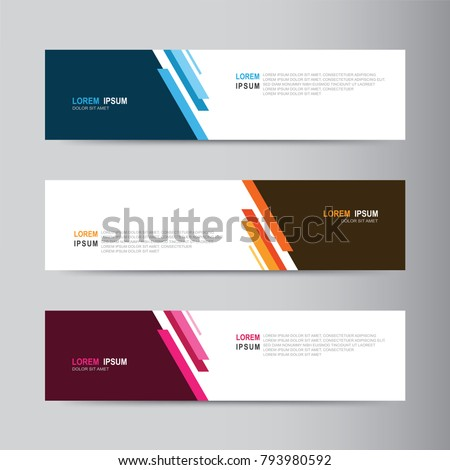 Banner background. Modern template vector design #793980592