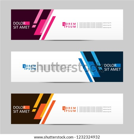 Banner background. Modern template vector design. Vector illustration eps 10 #1232324932